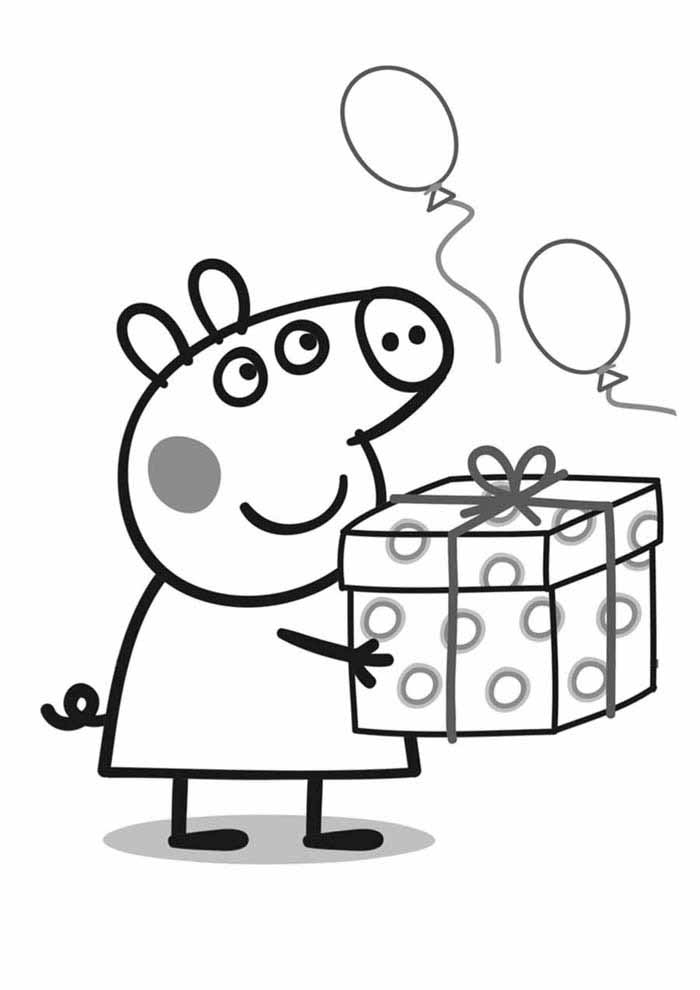 peppa pig coloring page gift