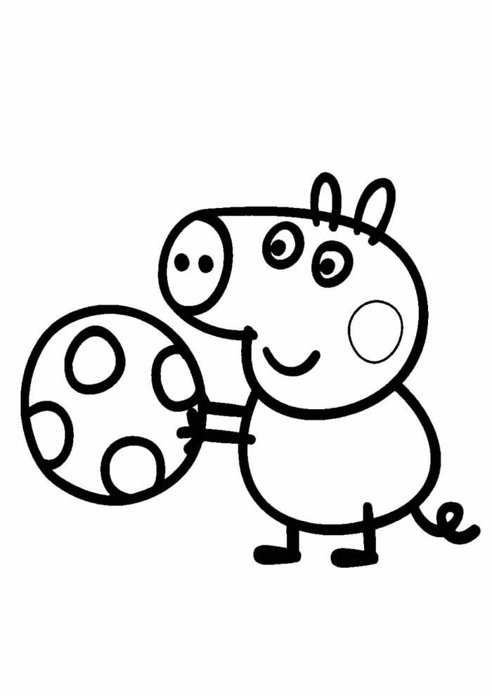 peppa pig coloring page painting