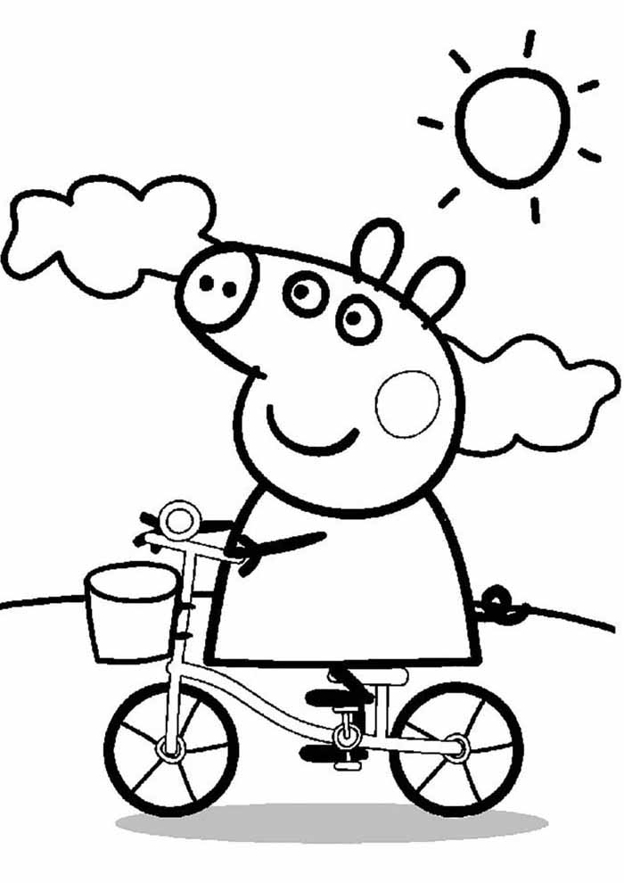 peppa pig coloring page sunny day