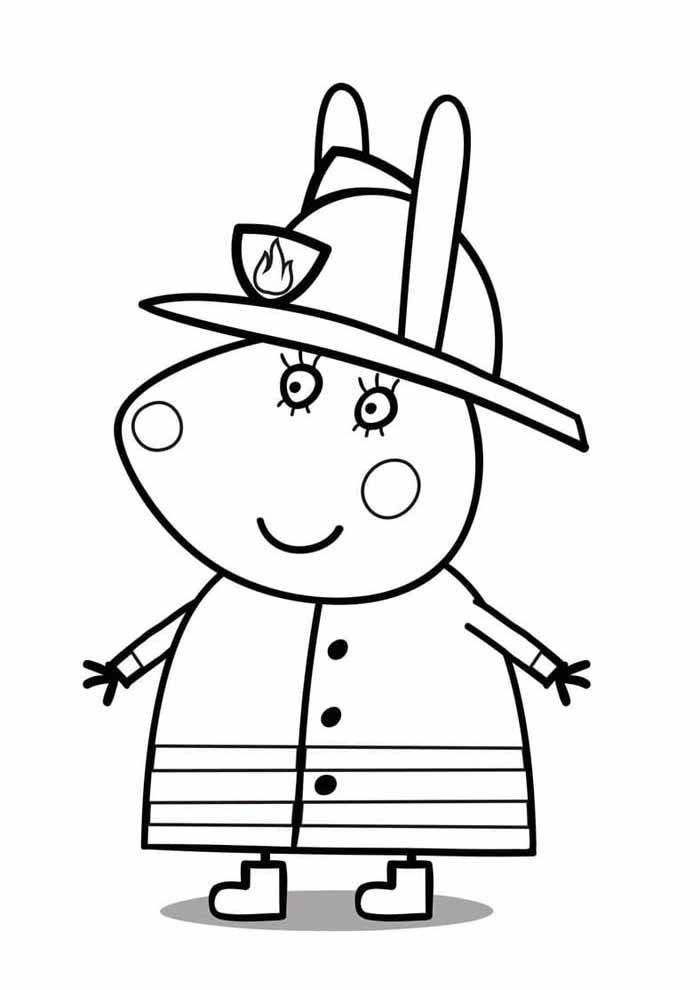 peppa pig police coloring page