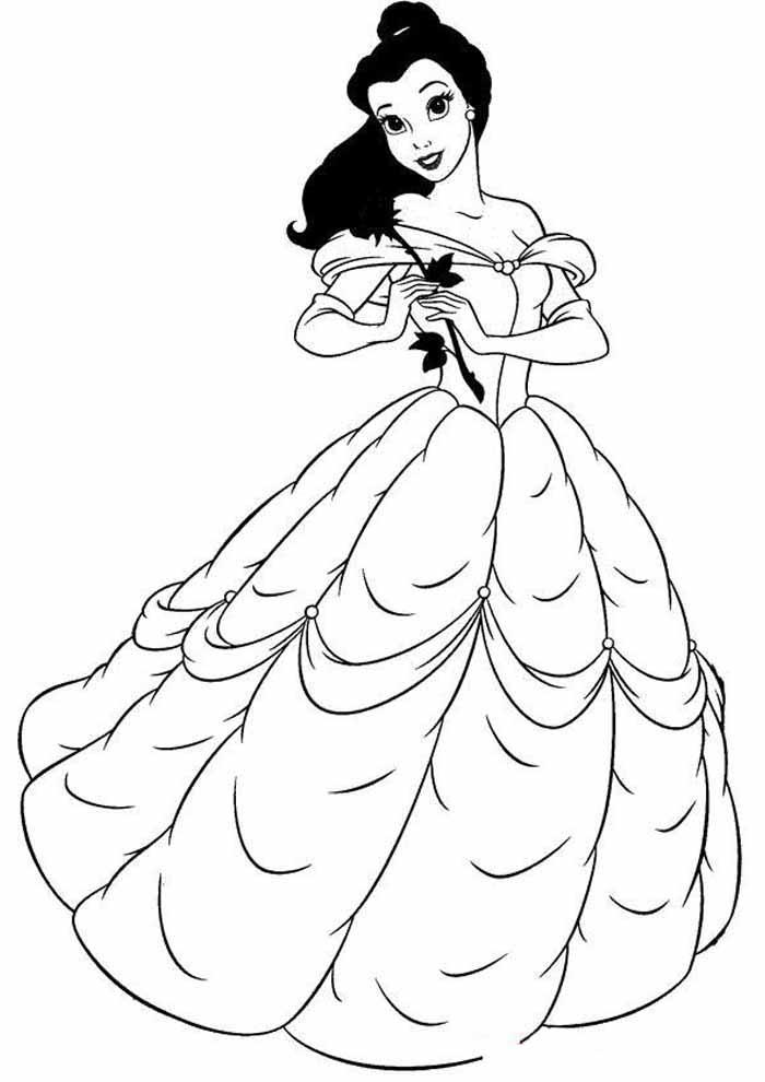 princesas para colorear 18