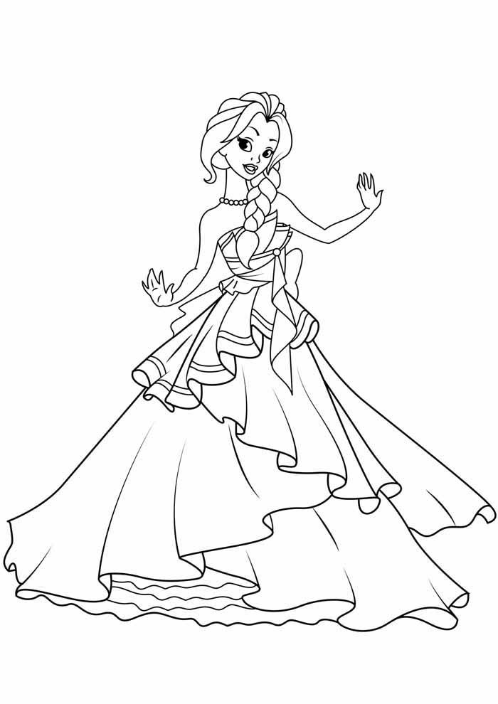 princesas para colorear 28