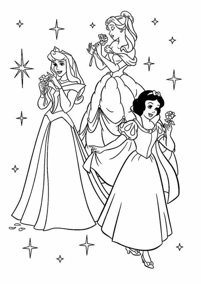 princesas para colorear 30
