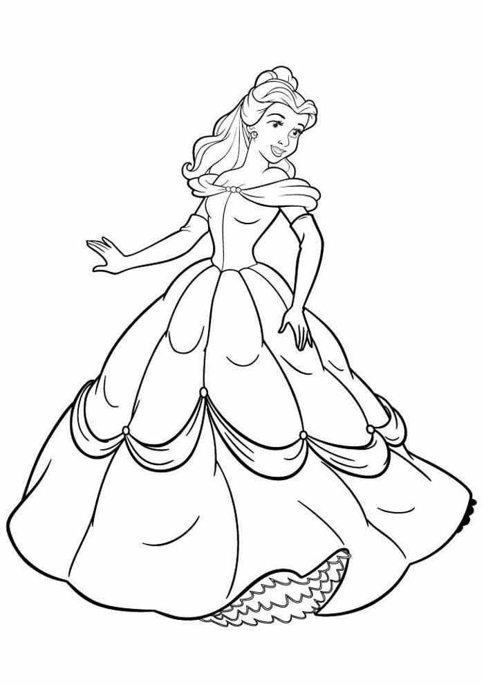 princesas para colorear 6