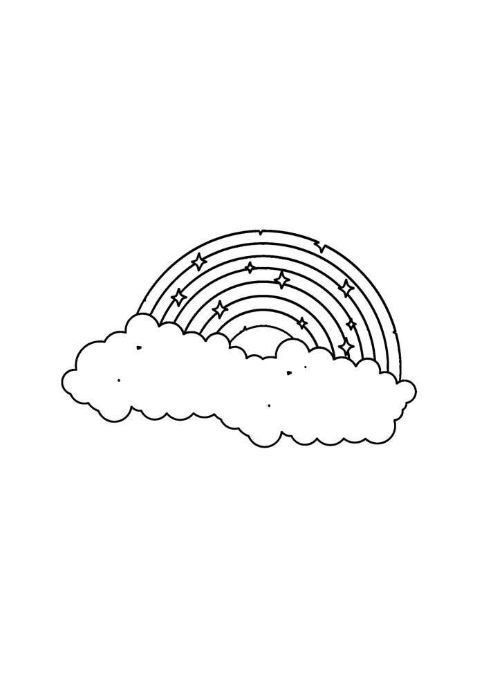 rainbow coloring page 1