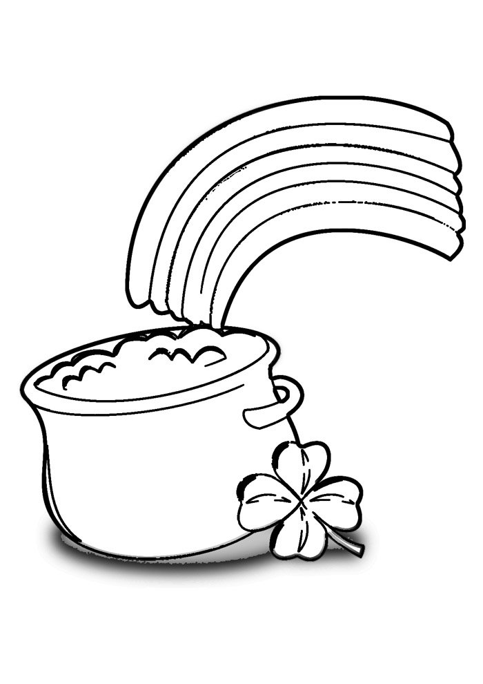 rainbow coloring page 10