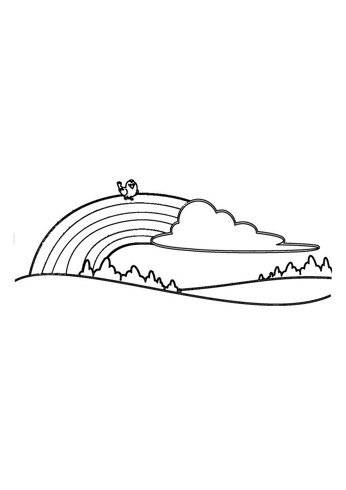 rainbow coloring page 12