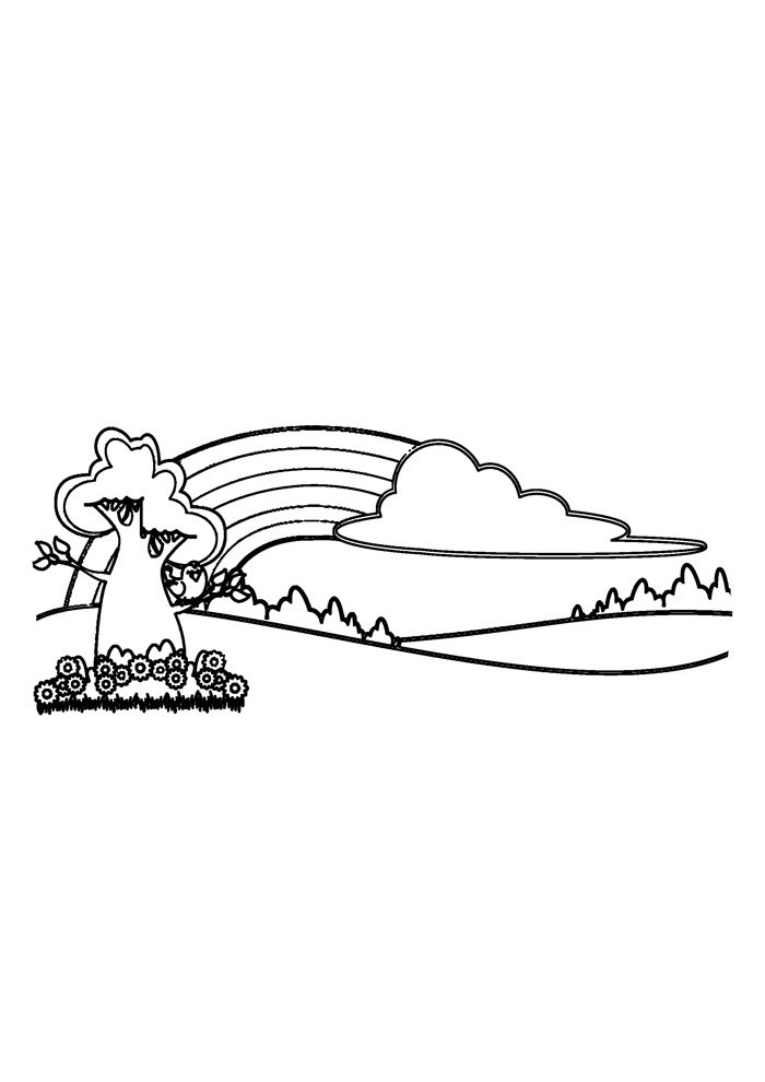 rainbow coloring page 13