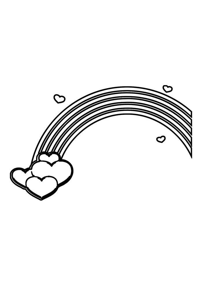 rainbow coloring page 17