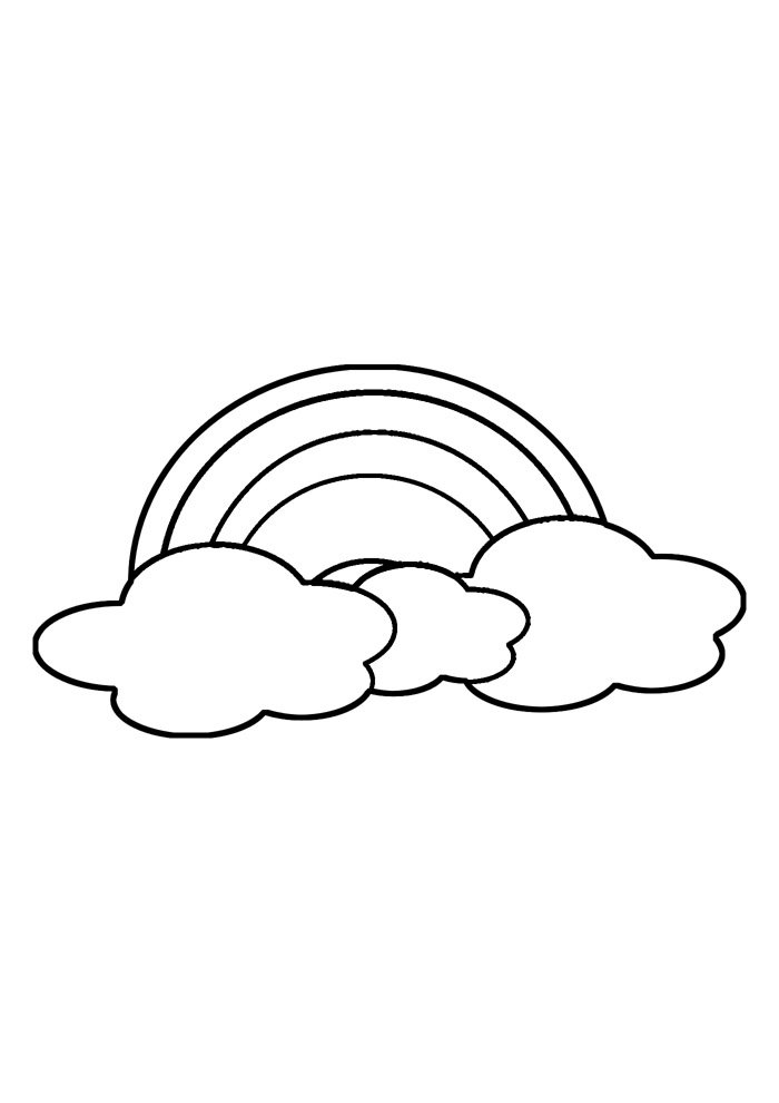 rainbow coloring page 19