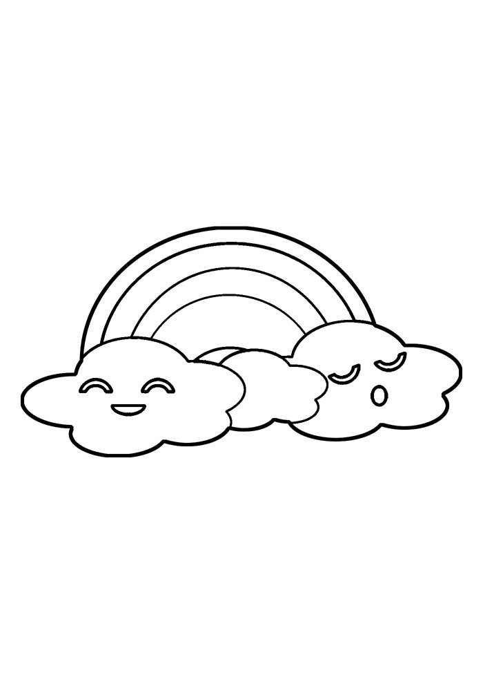 rainbow coloring page 21
