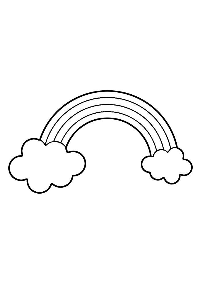 rainbow coloring page 24