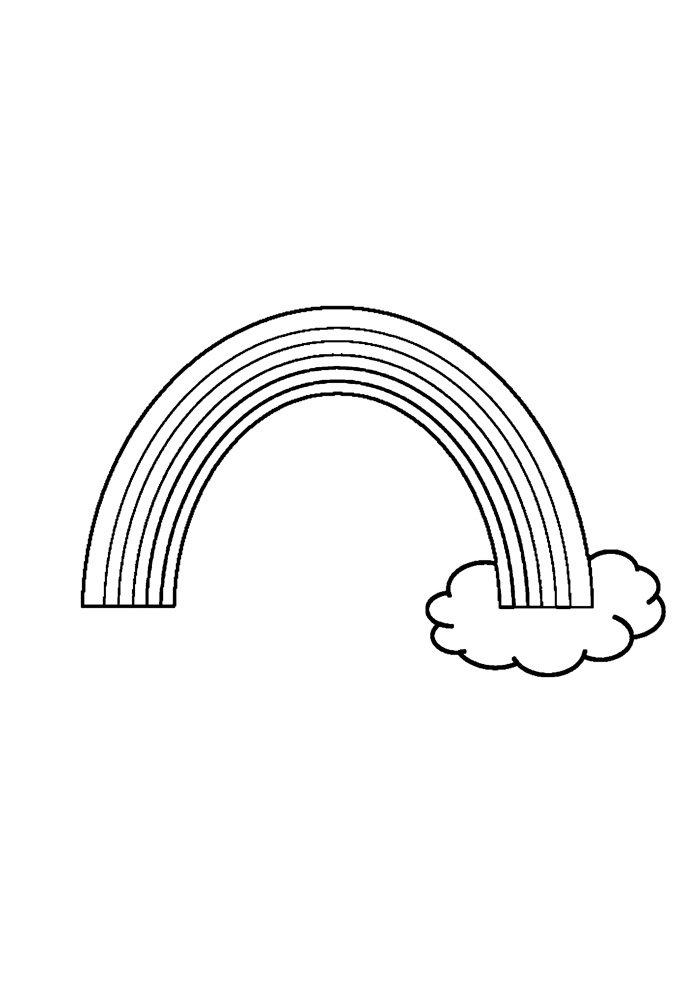 rainbow coloring page 27