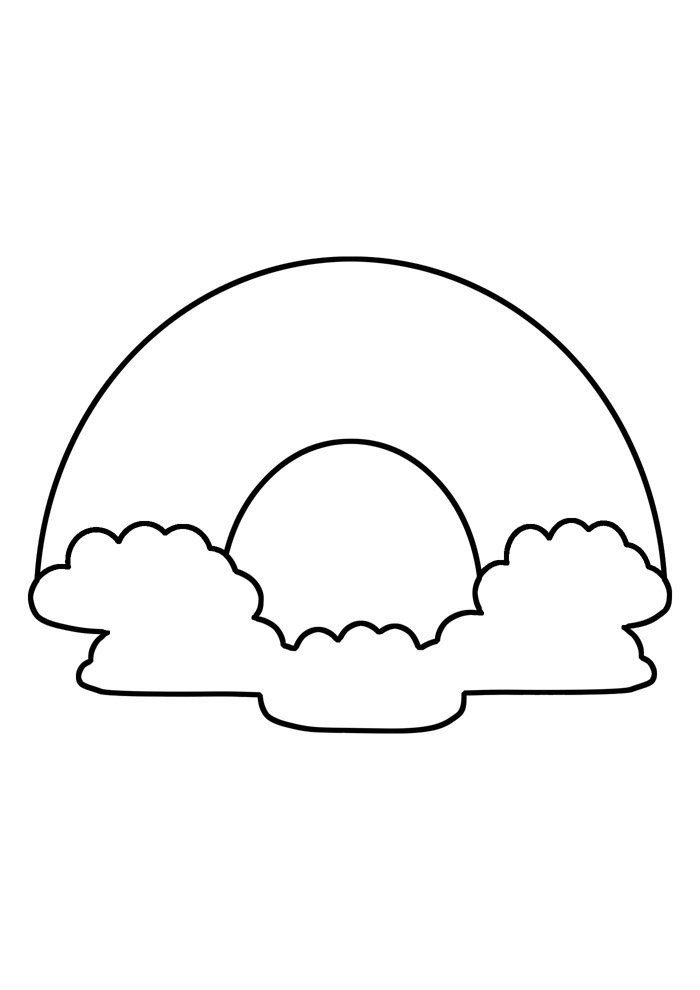 rainbow coloring page 28