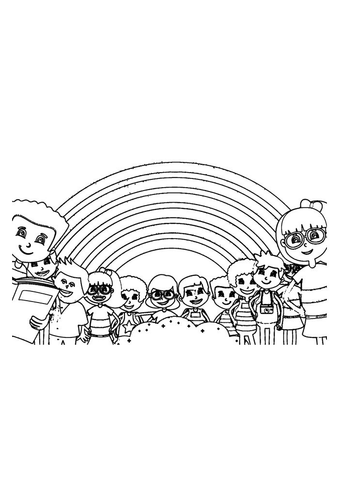 rainbow coloring page 32