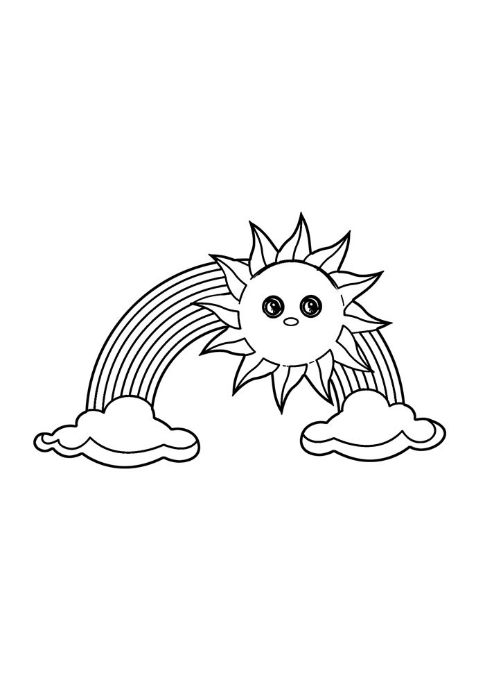 rainbow coloring page 33