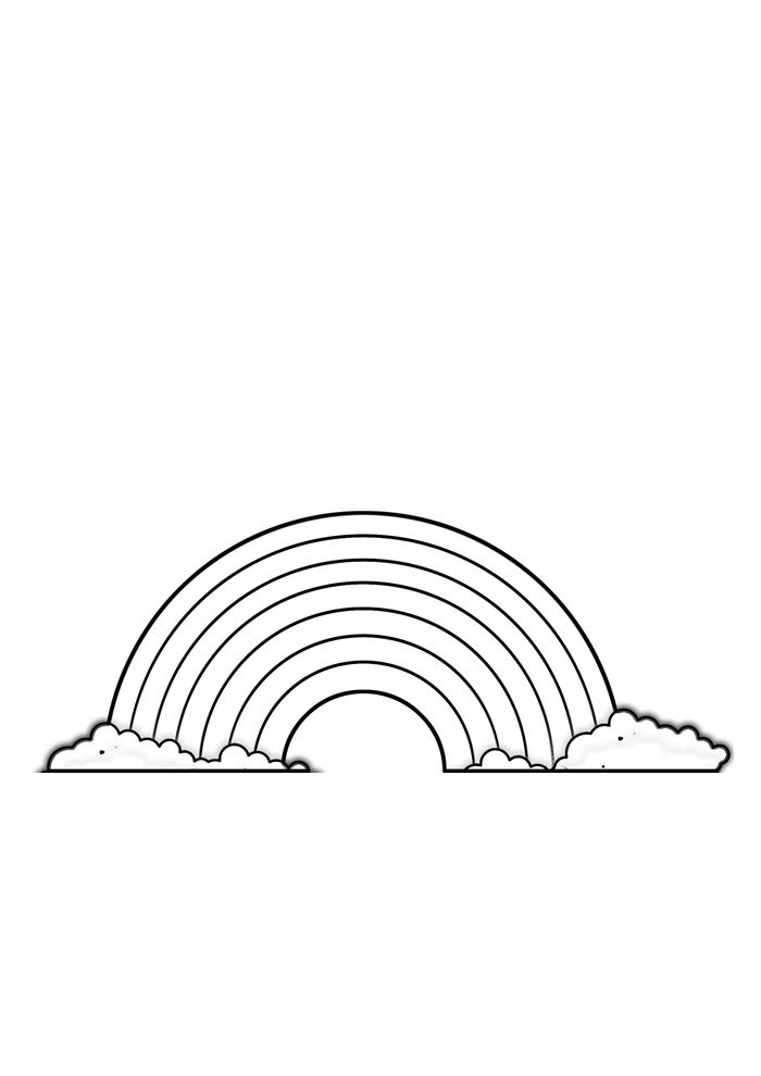 rainbow coloring page 37