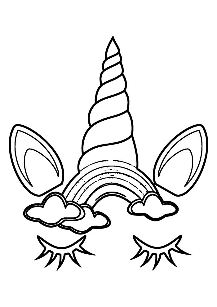 rainbow coloring page 38