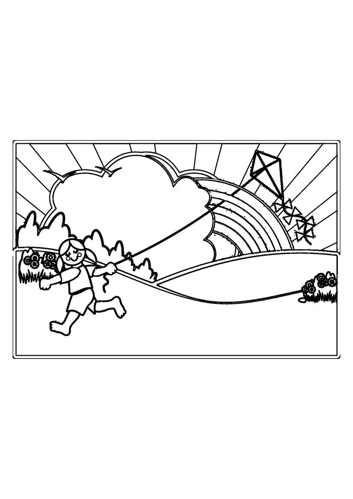 rainbow coloring page 7