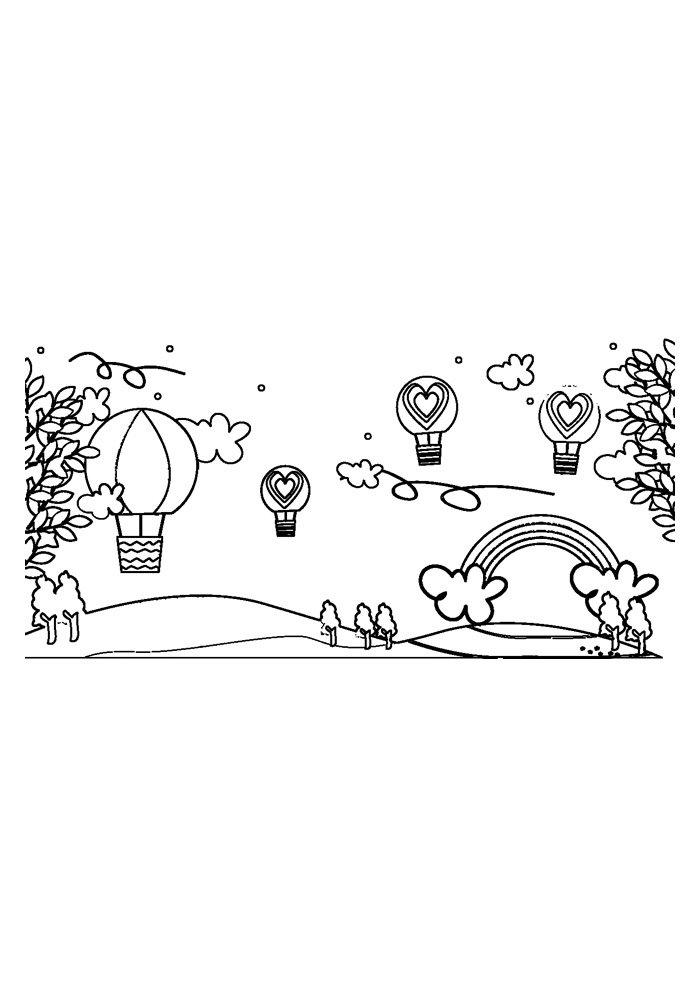 rainbow coloring page 8