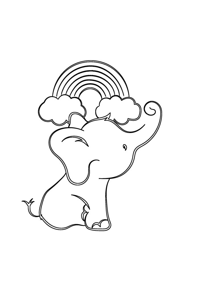 rainbow coloring page 9