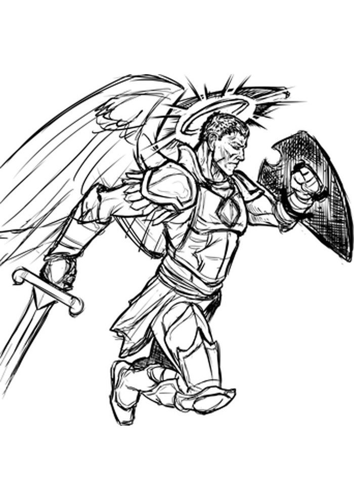 safety angel coloring page