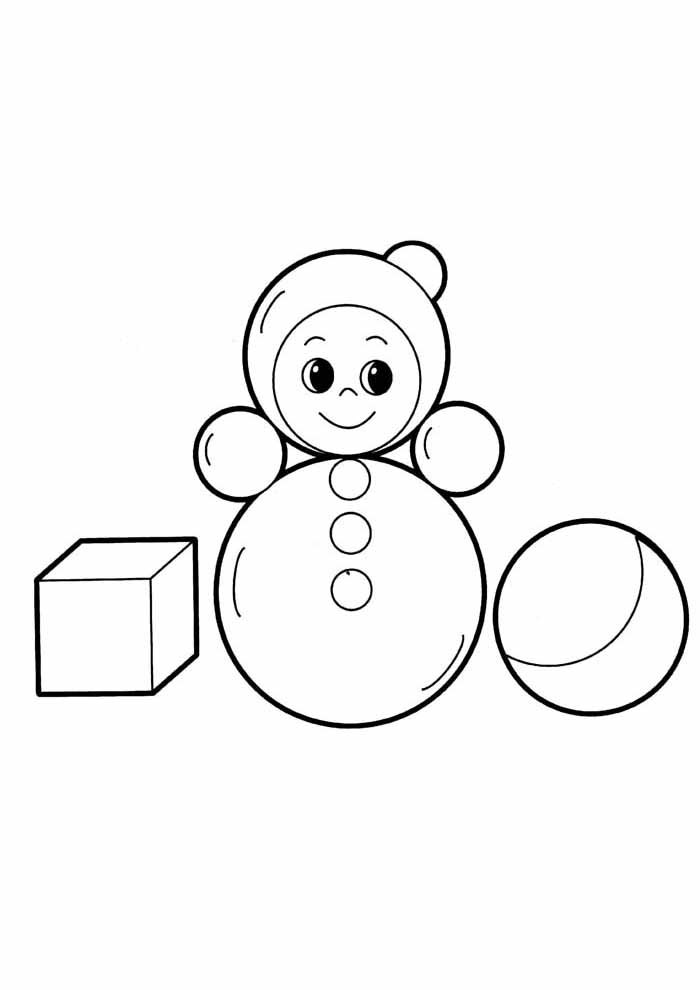 snowman coloring page for kids