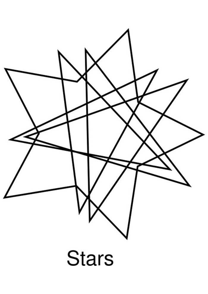 star coloring page 11