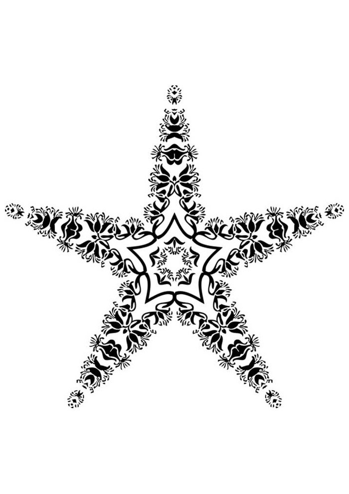 star coloring page 12