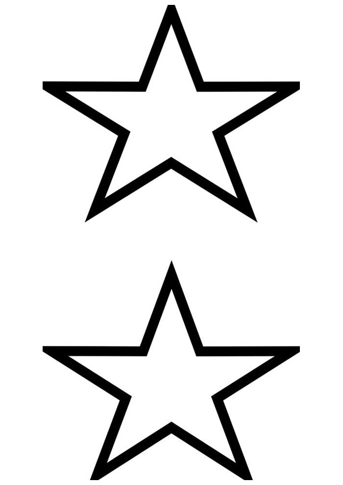 star coloring page 13