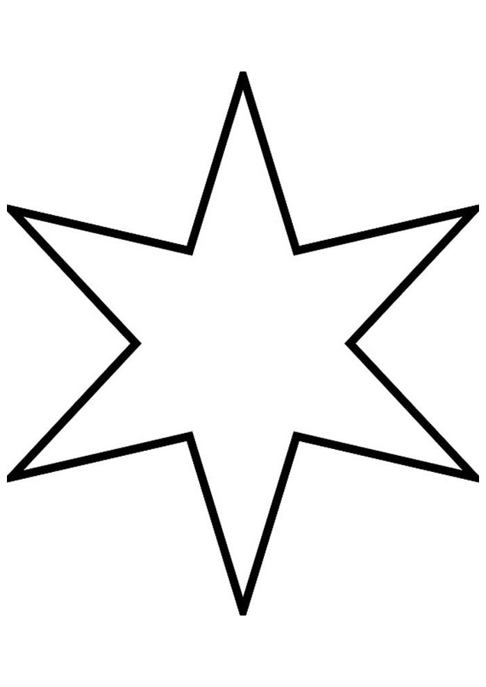 star coloring page 17