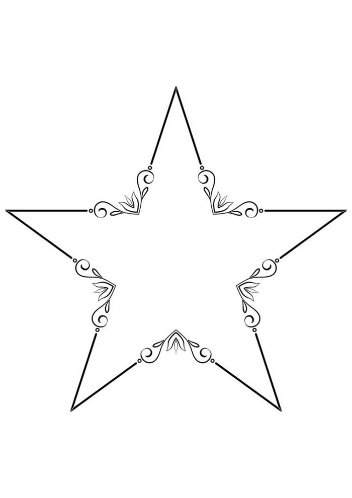 star coloring page 24