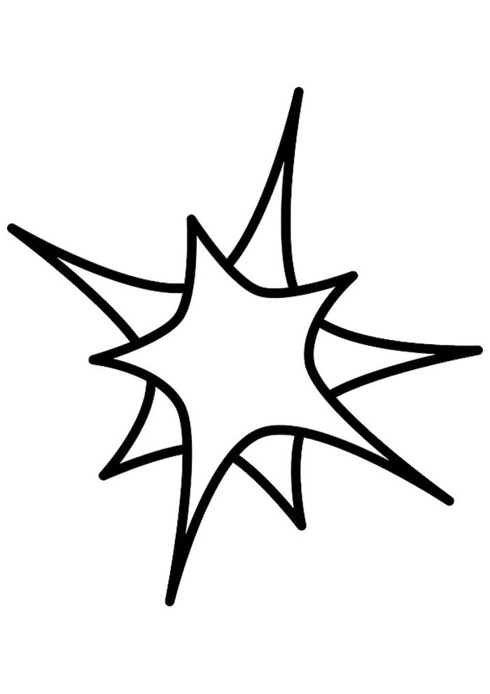star coloring page 32