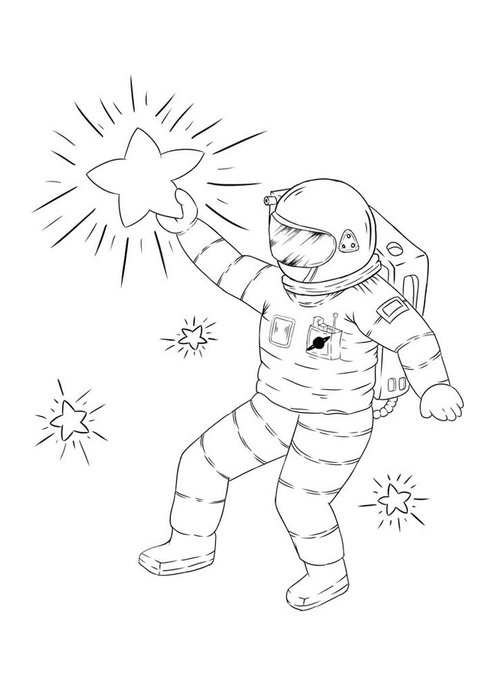 star coloring page 4
