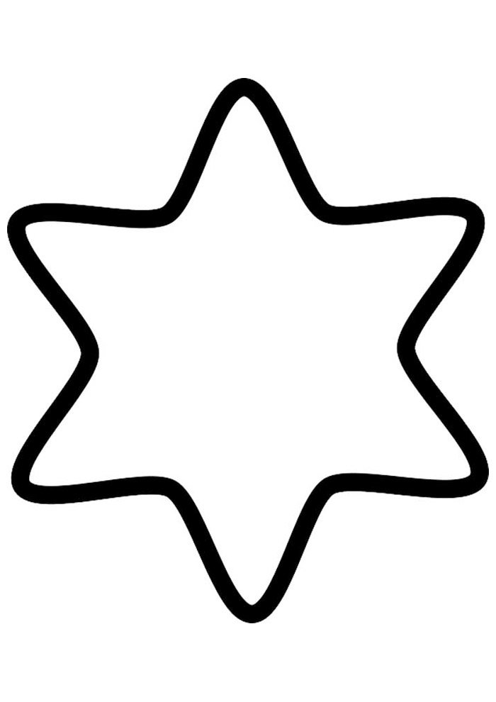 star coloring page 41