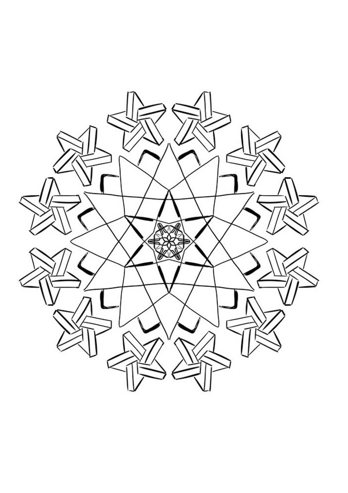 star coloring page 45