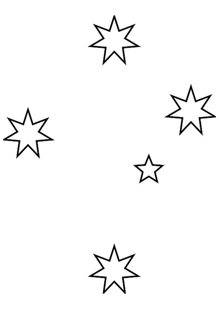 star coloring page 47