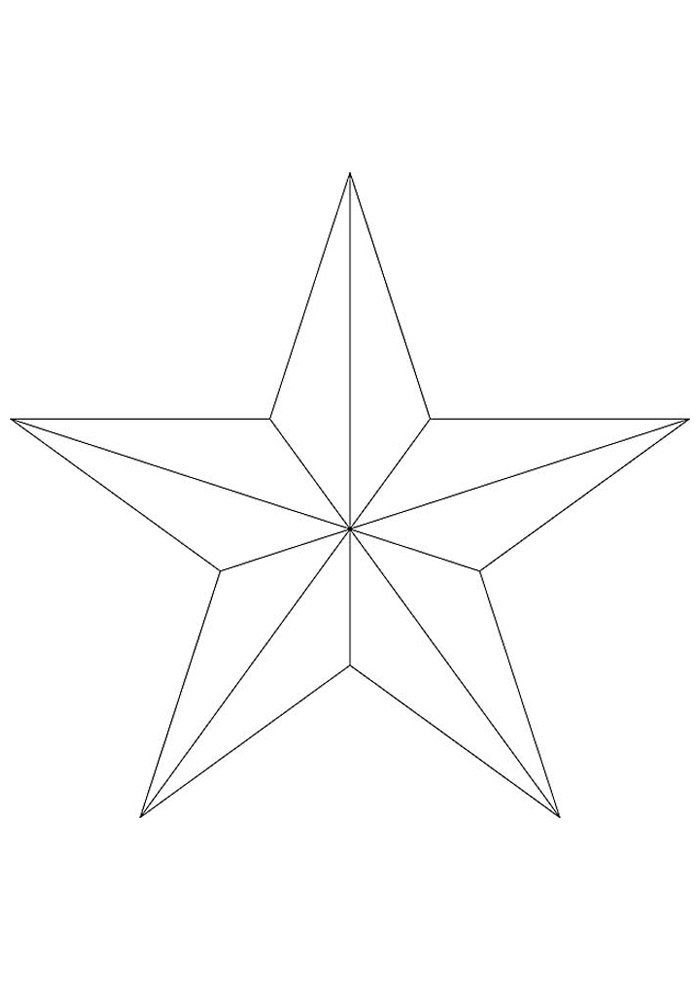 star coloring page 7