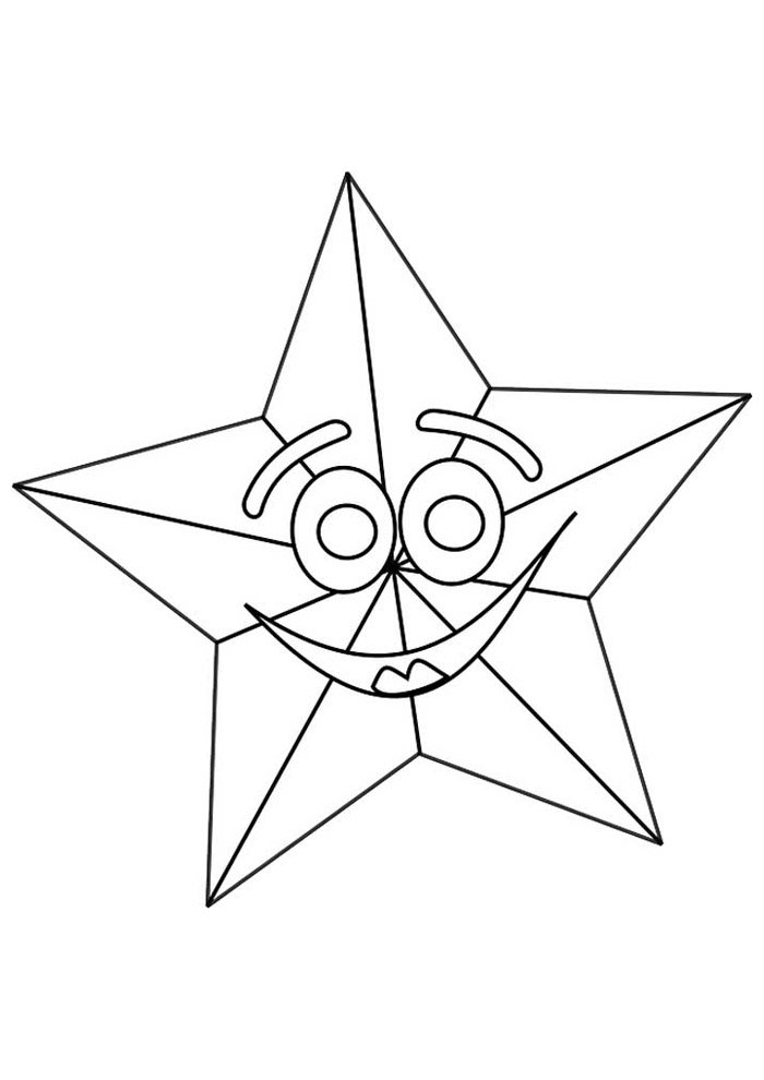 star coloring page 8