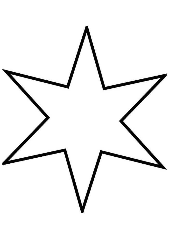 star coloring page 9