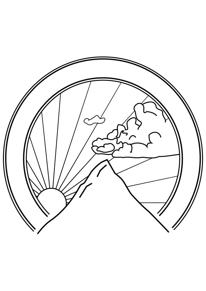 sun coloring page 10