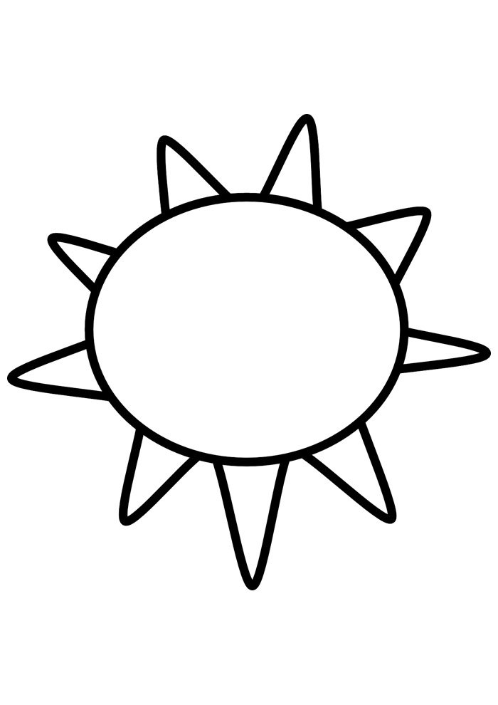 sun coloring page 19