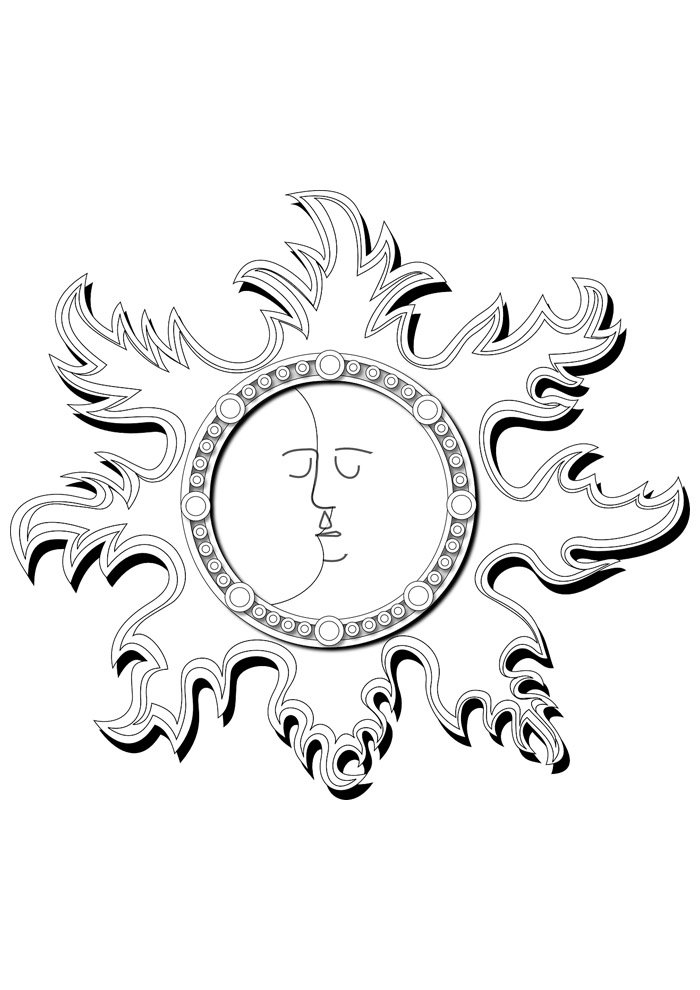 sun coloring page 2