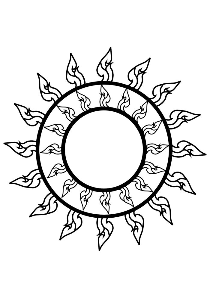 sun coloring page 20