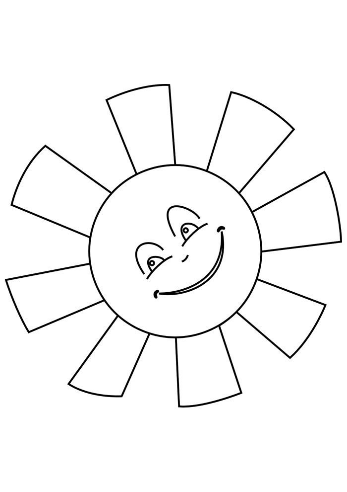 sun coloring page 21