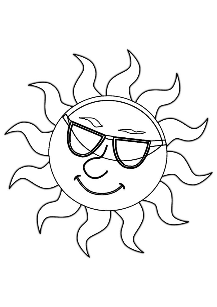 sun coloring page 22