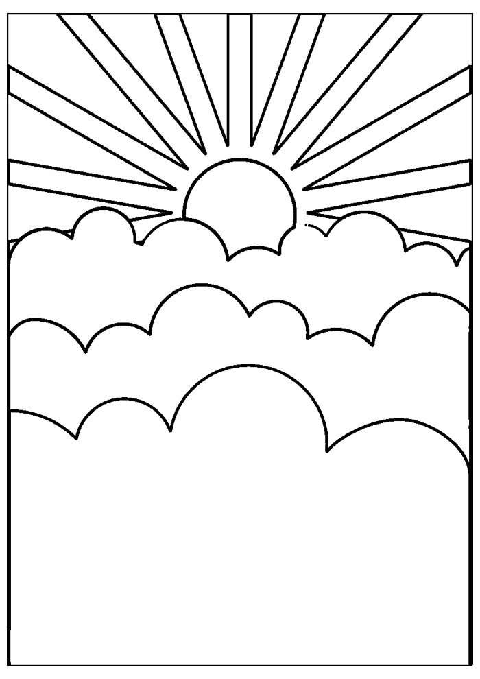 sun coloring page 32