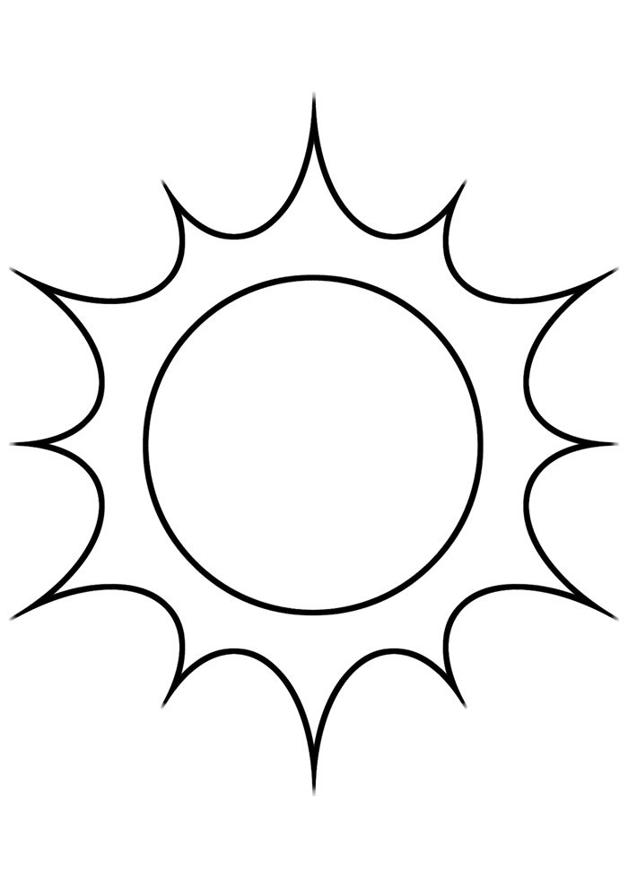sun coloring page 4