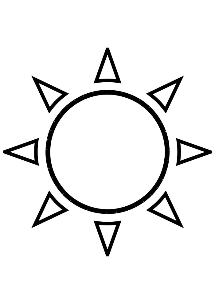 sun coloring page 5
