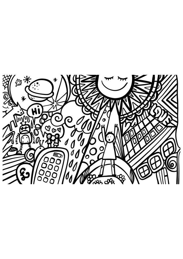 sun coloring page 8